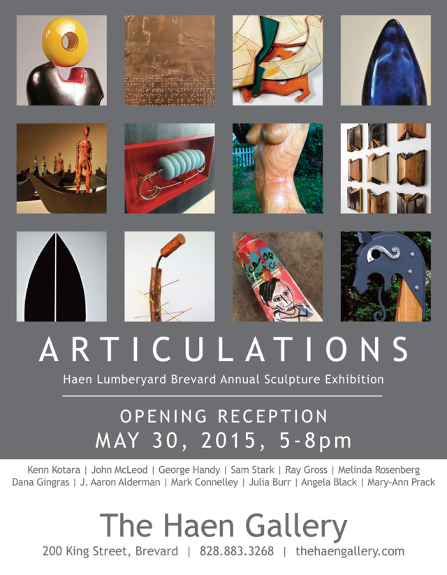 ARTICULATIONS Opens May 30, 2015