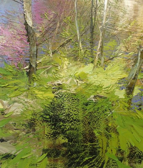 """""""17 April 2017"""" Oil on canvas, 35"""" x 40""""<br /><strong>- <a class=""""inquireLink"""" href=""""JavaScript:newPopup('http://thehaengallery.com/inquiry-form/?subject=Lynn Boggess: 17 April 2017');"""">Please inquire</a> -</strong>"""