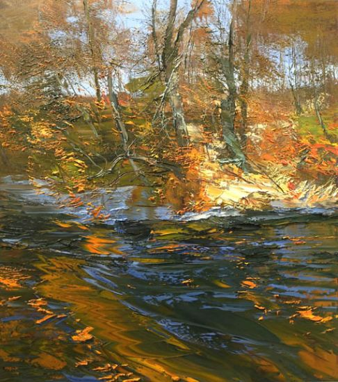 """""""1 November 2014"""" Oil on canvas, 40"""" x 46""""<br /><strong>- <a class=""""inquireLink"""" href=""""JavaScript:newPopup('http://thehaengallery.com/inquiry-form/?subject=Lynn Boggess: 1 November 2014');"""">Please inquire</a> -</strong>"""