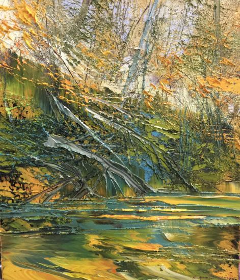 """""""1 October 2018"""" Oil on canvas, 22"""" x 26"""", $5000<br /><strong>- <a class=""""inquireLink"""" href=""""JavaScript:newPopup('http://thehaengallery.com/inquiry-form/?subject=Lynn Boggess: 1 October 2018');"""">Please inquire</a> -</strong>"""