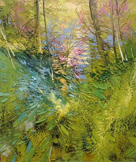 """""""20 April 2017"""" Oil on canvas, 35"""" x 40""""<br /><strong>- <a class=""""inquireLink"""" href=""""JavaScript:newPopup('http://thehaengallery.com/inquiry-form/?subject=Lynn Boggess: 20 April 2017');"""">Please inquire</a> -</strong>"""