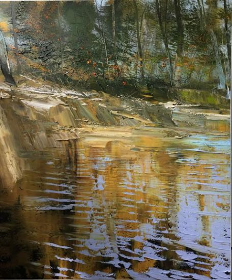 """""""28 August 2015"""" Oil on canvas, 54"""" x 64""""<br /><strong>- <a class=""""inquireLink"""" href=""""JavaScript:newPopup('http://thehaengallery.com/inquiry-form/?subject=Lynn Boggess: 28 August 2015');"""">Please inquire</a> -</strong>"""