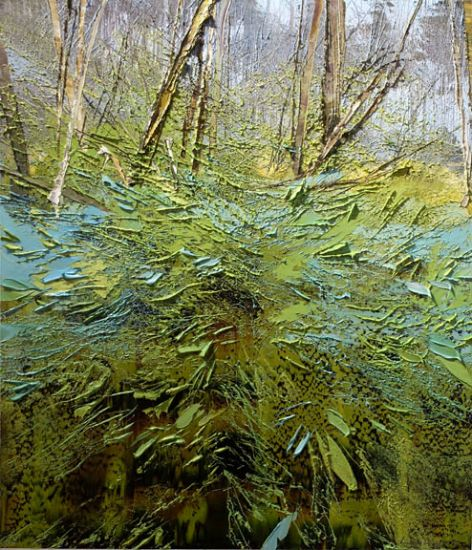 """""""29 March 2017"""" Oil on canvas, 35"""" x 40""""<br /><strong>- <a class=""""inquireLink"""" href=""""JavaScript:newPopup('http://thehaengallery.com/inquiry-form/?subject=Lynn Boggess: 29 March 2017');"""">Please inquire</a> -</strong>"""