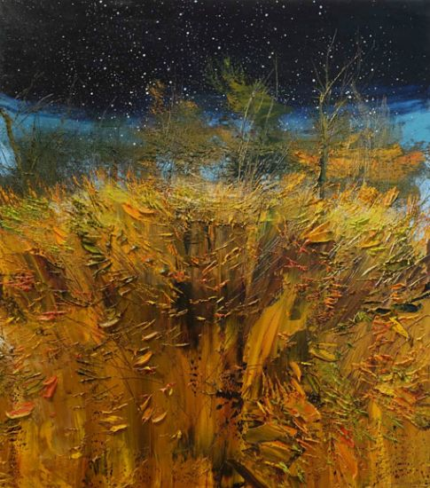 """""""31 October 2014"""" Oil on canvas, 40"""" x 46""""<br /><strong>- <a class=""""inquireLink"""" href=""""JavaScript:newPopup('http://thehaengallery.com/inquiry-form/?subject=Lynn Boggess: 31 October 2014');"""">Please inquire</a> -</strong>"""
