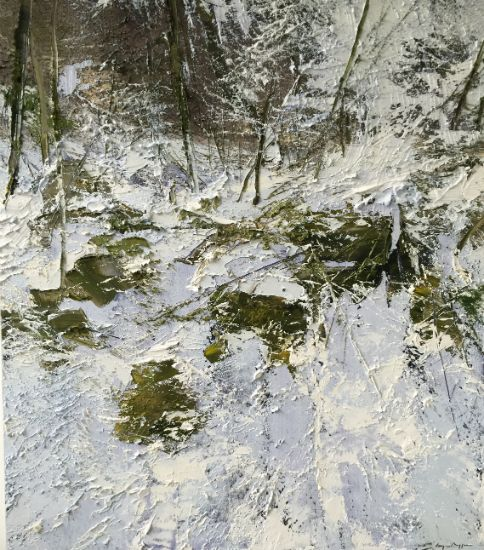 """""""3 January 2014"""" Oil on canvas, 40"""" x 46""""<br /><strong>- <a class=""""inquireLink"""" href=""""JavaScript:newPopup('http://thehaengallery.com/inquiry-form/?subject=Lynn Boggess: 3 November 2014');"""">Please inquire</a> -</strong>"""