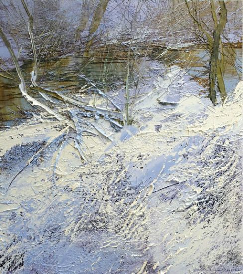 """""""6 February 2017"""" Oil on canvas, 35"""" x 40""""<br /><strong>- <a class=""""inquireLink"""" href=""""JavaScript:newPopup('http://thehaengallery.com/inquiry-form/?subject=Lynn Boggess: 6 February 2017');"""">Please inquire</a> -</strong>"""