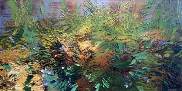 """4 June 2014"" Oil on canvas, 48"" x 24""<br /><strong>- <a class=""inquireLink"" href=""JavaScript:newPopup('http://thehaengallery.com/inquiry-form/?subject=Lynn Boggess: 4 June 2014');"">Please inquire</a> -</strong>"