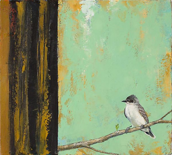 """Kingbird"" Oil on canvas, 20"" x 18""<br /><strong>- SOLD -</strong>"