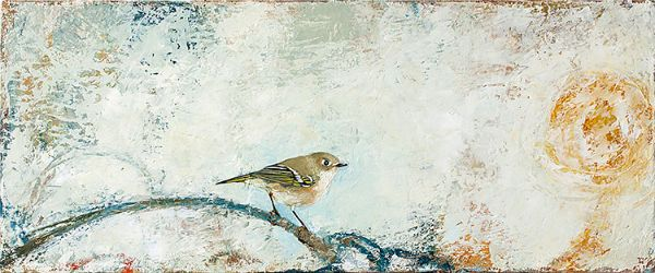 """Kinglet's Day"" Oil on canvas, 10"" x 24""<br /><strong>- SOLD -</strong>"