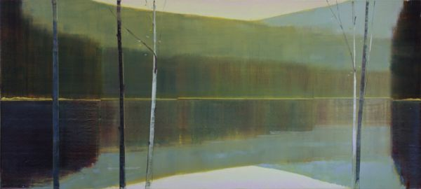 """2016, IX.IV"" Oil on Birch Panel, 76"" X 34""<br /><strong>- <a class=""inquireLink"" href=""JavaScript:newPopup('http://thehaengallery.com/inquiry-form/?subject=Stephen Pentak: 2016, IX.IV');"">Please inquire</a> -</strong>"