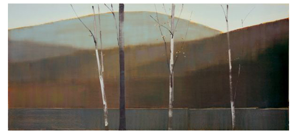 """2017, VI.I"" Oil on Birch Panel, 76"" X 34""<br /><strong>- <a class=""inquireLink"" href=""JavaScript:newPopup('http://thehaengallery.com/inquiry-form/?subject=Stephen Pentak: 2017, VI.I');"">Please inquire</a> -</strong>"