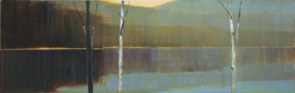 """2013, I.V"" Oil on Birch Panel, 76"" X 24""<br /><strong>- SOLD -</strong>"
