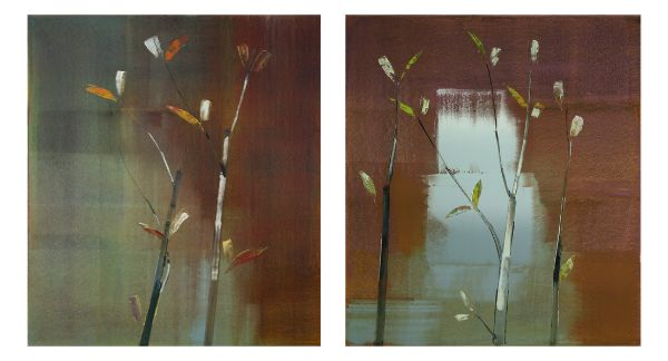 """2011, II.VI"" [diptych] Oil on Birch Panel, 86"" X 48""<br /><strong>- <a class=""inquireLink"" href=""JavaScript:newPopup('http://thehaengallery.com/inquiry-form/?subject=Stephen Pentak: 2011, II.VI [diptych]');"">Please inquire</a> -</strong>"
