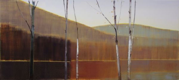 """2014, III.III"" Oil on Birch Panel, 76"" X 34""<br /><strong>- SOLD -</strong>"