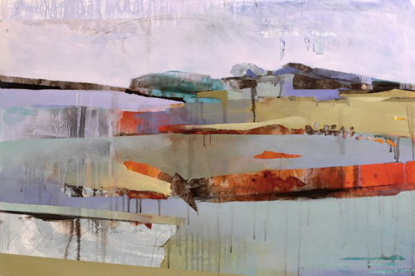 """Bluffs 1"" Oil on birch panel, 38"" x 26""<br /><strong>- SOLD -</strong>"