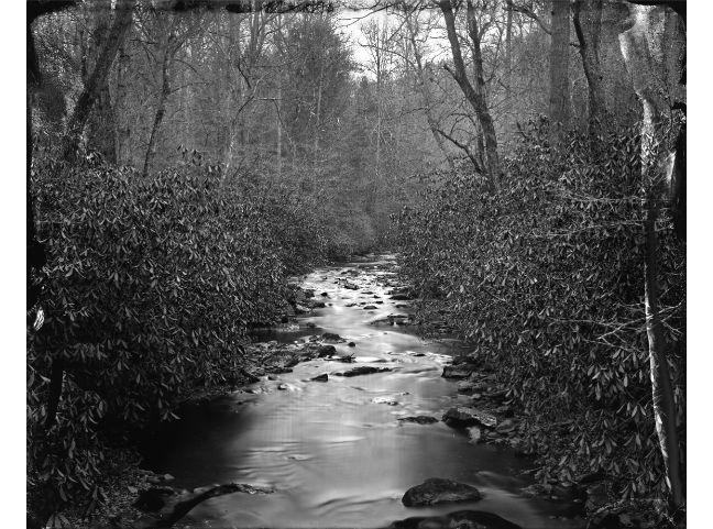 """""""North Mills River"""" toned gelatin silver print, 20"""" x 16""""<br /><strong>- <a class=""""inquireLink"""" href=""""JavaScript:newPopup('http://thehaengallery.com/inquiry-form/?subject=Ben Nixon: North Mills River');"""">[1/1 SOLD] Please inquire about [2 through 5/5]</a> -</strong>"""