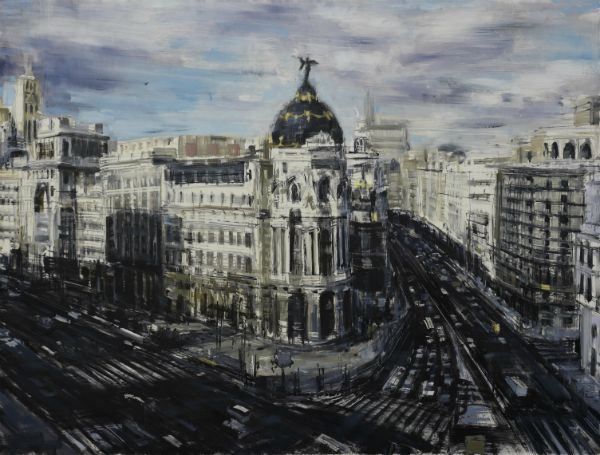"""""""Madrid"""" Oil on panel, 32"""" x 24""""<br /><strong>- SOLD -</strong>"""