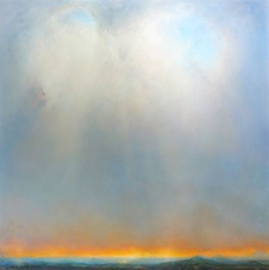 """A Far Valley"" Oil on canvas, 64"" x 64""<br /><strong>- SOLD -</strong>"