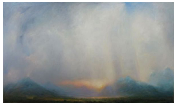 """""""Across the Ambler"""" Oil on canvas, 63"""" x 47""""<br /><strong>- SOLD -</strong>"""