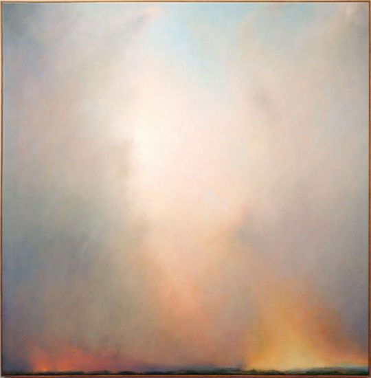 """In the Long Run"" Oil on canvas, 51"" x 51""<br /><strong>- SOLD -</strong>"