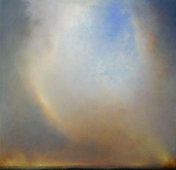 """Redoubt"" Oil on canvas, 61""x63""<br /><strong>- SOLD -</strong>"