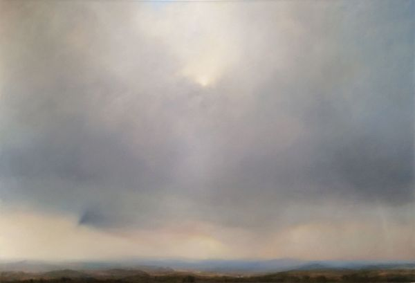 """The Edge of Winter"" Oil on canvas, 64"" x 43""<br /><strong>- SOLD -</strong>"