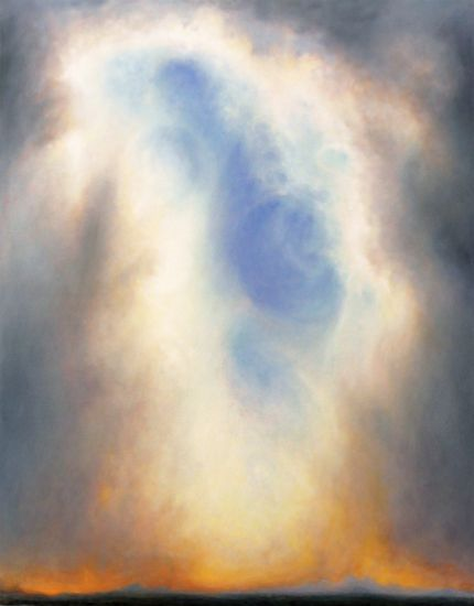 """""""Third Saint"""" Oil on canvas, 50"""" x 63""""<br /><strong>- <a class=""""inquireLink"""" href=""""JavaScript:newPopup('http://thehaengallery.com/inquiry-form/?subject=Larry Gray: Third Saint');"""">Please inquire</a> -</strong>"""