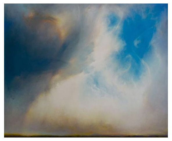 """Waiting for Snow in Bend"" Oil on canvas, 77"" x 63""<br /><strong>- SOLD -</strong>"