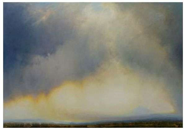 """Modoc Steppe"" Oil on canvas, 90"" x 63""<br /><strong>- SOLD -</strong>"
