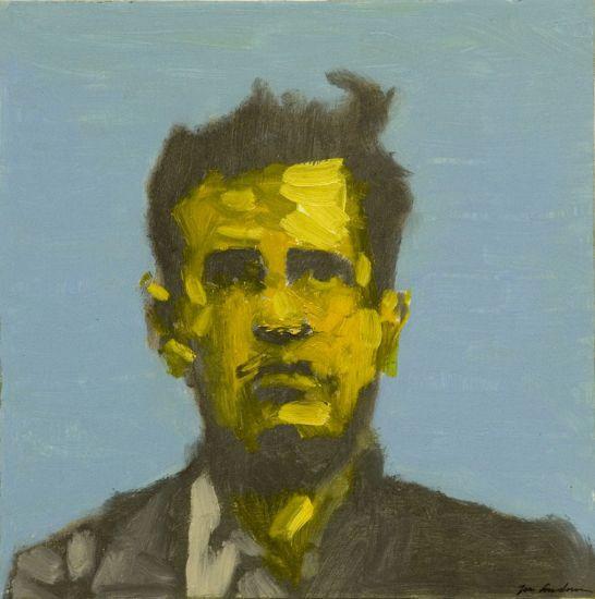 """Achilles"" Oil on Panel, 16""x16"", Wittgenstein Portrait<br /><strong>- SOLD -</strong>"