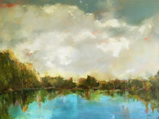 """Reflections Of"" oil on canvas, 40"" x 30""<br /><strong>- SOLD -</strong>"