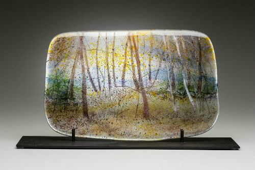 """Early Autumn"" kiln-formed glass, 16"" x 10.5"","