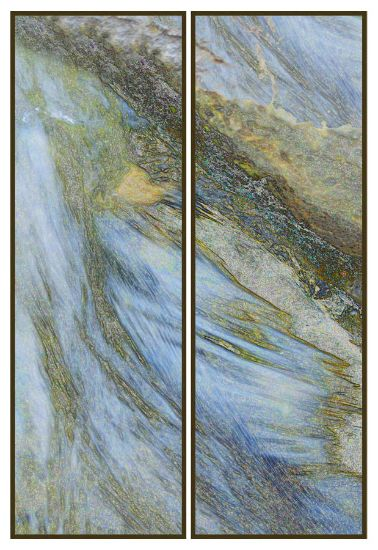 """Arcadia"" resin-coated pigment print on canvas, birch panel,<br />framed, 16"" x 48"" ea, $3600 for diptych- <strong>- <a class=""inquireLink"" href=""JavaScript:newPopup('http://thehaengallery.com/inquiry-form/?subject=Chris Foley: Arcadia');"">Please inquire</a> -</strong>"