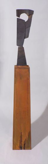 """Reassembled"" cast iron & corten steel, 62"" x 9"" x 10""<br /><strong>- SOLD -</strong>"