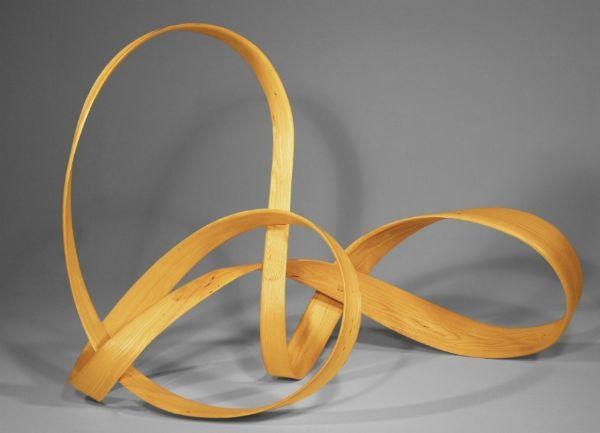 """Mobius"" ash, 43""h x 62""w x 26""h<br /><strong>- <a class=""inquireLink"" href=""JavaScript:newPopup('http://thehaengallery.com/inquiry-form/?subject=Rick Lazes: Mobius');"">Please inquire</a> -</strong>"